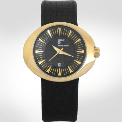 Replay Torpedo Goldtone Circular Women's Watch