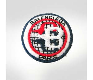 Balenciaga Embroidered Emblem Brooch