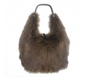 Brunello Cucinelli Light Brown Fur Handbag