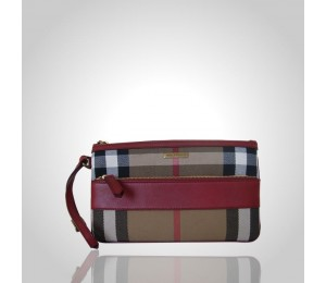 Burberry Vintage House Check Wristlet
