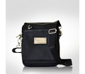 Emanuel Ungaro Black Canvas Messenger bag