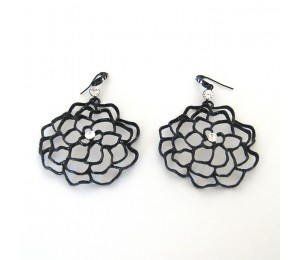 Fanny Bijoux Rose Outline Earrings