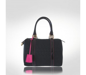 Fendi Black Canvas Satchel