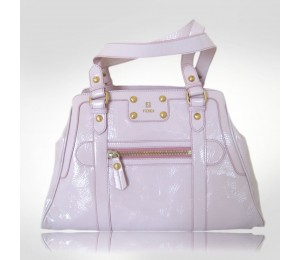 Fendi Pink Leather Dejour Handbag