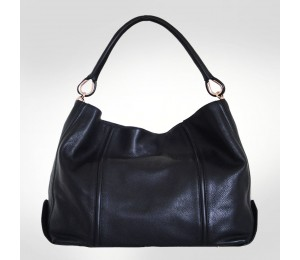 Gianfranco Ferre Black Textured Leather Tote Bag