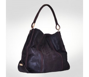 Gianfranco Ferre Violet Fur Tote Bag