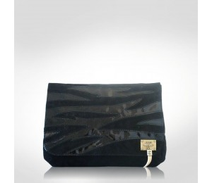 Just Cavalli Black Patent Leather Large Clutch