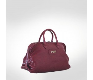 Just Cavalli Maroon Leather Medium Tote