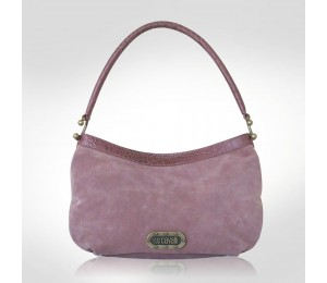Just Cavalli Pale Pink Suede Medium Tote
