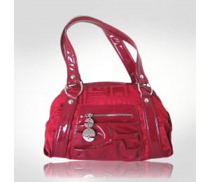 Miss Sixty Red Canvas Handbag