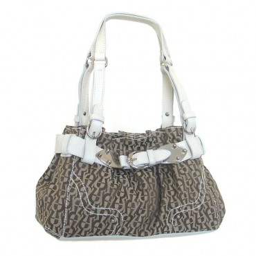 "Etienne Aigner Chalk Canvas ""City Bag"" Handbag"