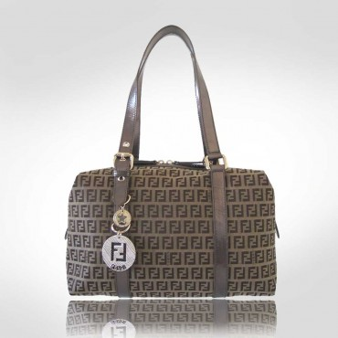 Fendi Brown Box Satchel