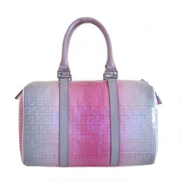 Fendi Pink Sequined Forever Boston Handbag