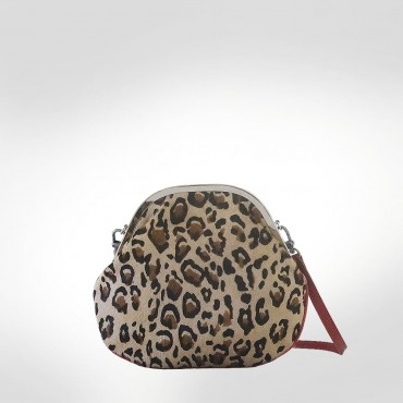 John Galliano Cheetah Print Fur Evening bag