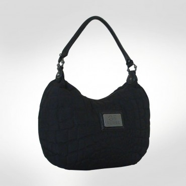 GF Ferre Black Quilted Nylon Tote