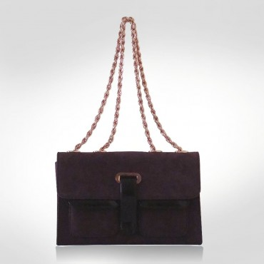 Gianfranco Ferre Violet Suede Evening Bag