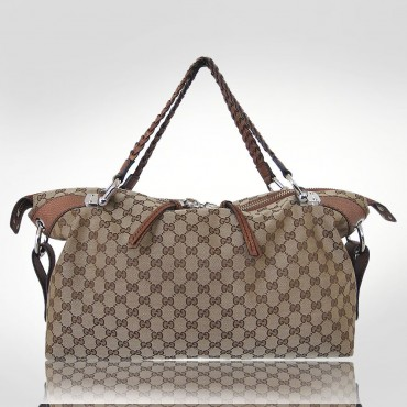 Gucci Beige Bamboo Bar Medium Tote Bag