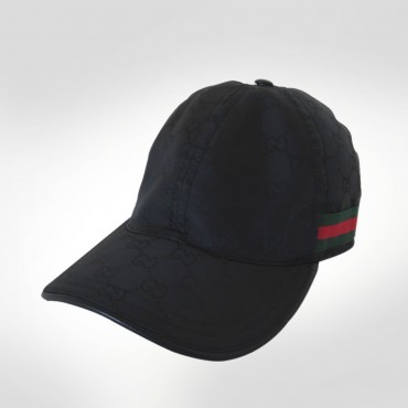 Gucci Black Nylon Baseball Cap