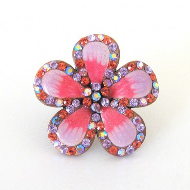 Joana Cocea Pink Daisy Cocktail Ring