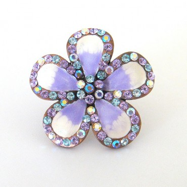 Joana Cocea Purple Daisy Cocktail Ring