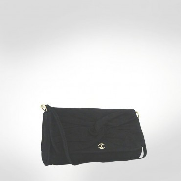 Just Cavalli Black Suede Medium Evening Bag