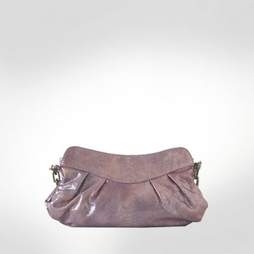 Just Cavalli Pale Pink Leather Evening bag