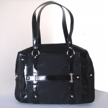 Miss Sixty Black Canvas Square Handbag