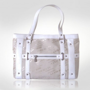 Miss Sixty White Canvas Tote