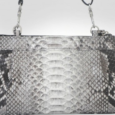 Silvano Biagini Brown Python Leather Evening Bag