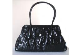 Mario Valentino Black Quilted Shoulder Bag